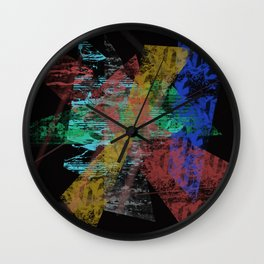 Black abstract designe Wall Clock