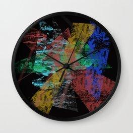 Black abstract designe Wall Clock