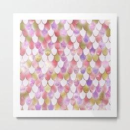 Pink Purple Mermaid Scales FHSJB Metal Print