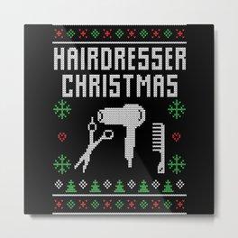 Hairdresser Christmas Metal Print
