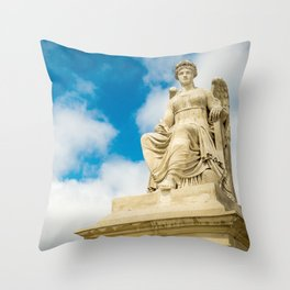 Sitting Angel Throw Pillow