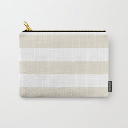 White chocolate - solid color - white stripes pattern Carry-All Pouch