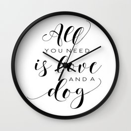 All You Need Is Love Beetles Song Quote Digital Wall For Gift and Office Decor Wall Clock