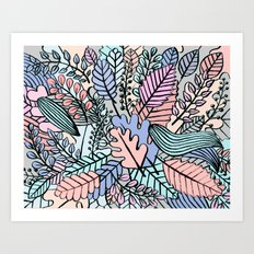 Pattern leaves Art Print