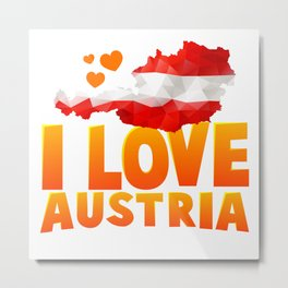 I Love Austria Metal Print
