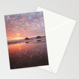 Huntington Beach Pier Sunset 12-29-19 Stationery Cards