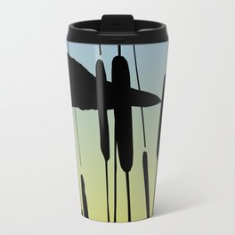Great Blue Heron - Sunrise Travel Mug