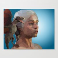 mother of dragons Canvas Prints featuring Mother of Dragons by Apt108