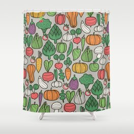 Farm veggies Shower Curtain