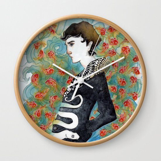 The White Snake Wall Clock