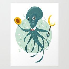 Mr Octopus Art Print