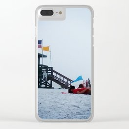 Moon life, day at siesta key beach, Florida. Clear iPhone Case