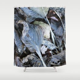 The Nature of Leaves - a Midwest Winter Shower Curtain