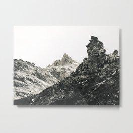 Denali in B&W Metal Print