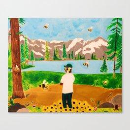 Tyler the Creator - Wolf x Flowerboy - Acrylic Painting Canvas Print