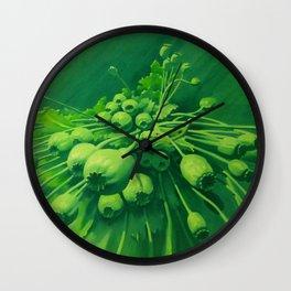 Poppy bunch Wall Clock