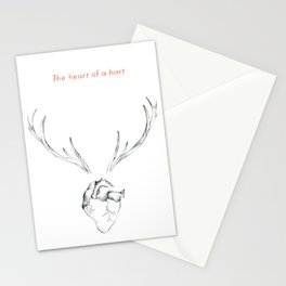 The Heart of a Hart Stationery Cards