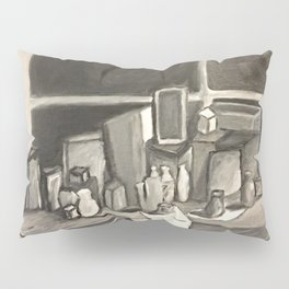 As Time Passes in Black and White Pillow Sham