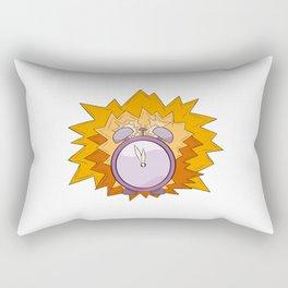 violet alarm clock Rectangular Pillow