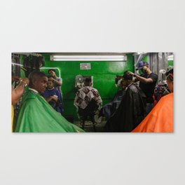 The Barbers Canvas Print