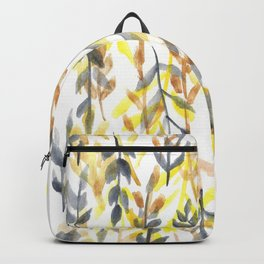 170814 Leaves Watercolour 6 |Modern Watercolor Art | Abstract Watercolors Backpack