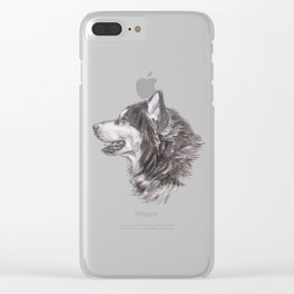 Gotta draw the Husky Doggie Clear iPhone Case