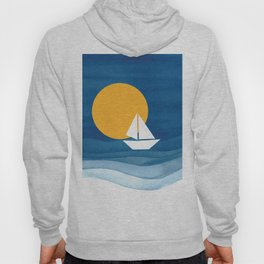 A sailboat in the sea Hoody