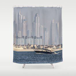 Dubai Yacht And Architecture Shower Curtain