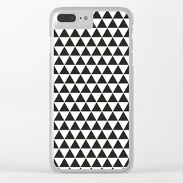 Black And White Triangles Pattern Clear iPhone Case
