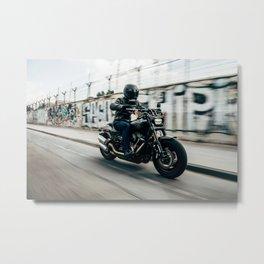 Street Rider - Fine Art Print Metal Print