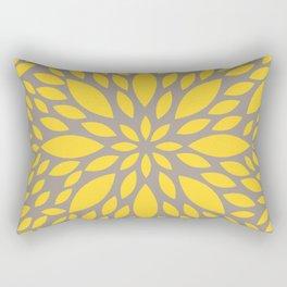 Yellow Flower explosion Rectangular Pillow