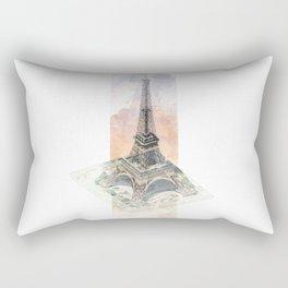 Paris Eiffel Tower - axonometric Rectangular Pillow