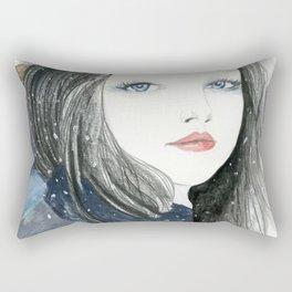 Embracing A Misty Morning Rectangular Pillow