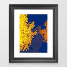 Sky Blue Cloud Yellow Framed Art Print