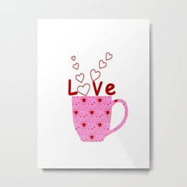 Cup Of Love Metal Print