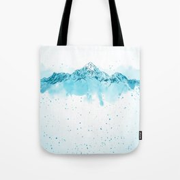 watercolor mountains Tote Bag