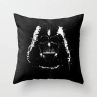 vader Throw Pillows featuring Vader by Purple Cactus