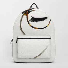 Tortoiseshell Glasses Brunette Backpack