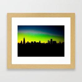 Modded Chicago Skyline Framed Art Print