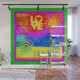 Love Peace Wall Mural