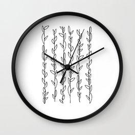 6 Wreaths unfurled (Something I drew on the bathroom mirror ten years ago) Wall Clock