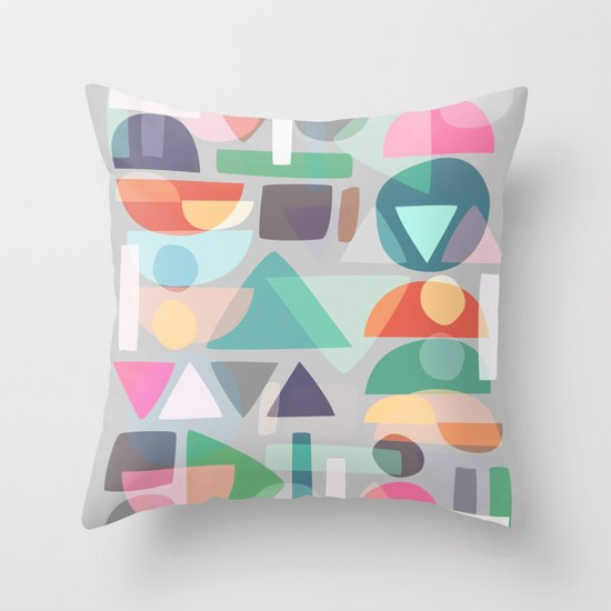 Pastel Geometry 2 Throw Pillow