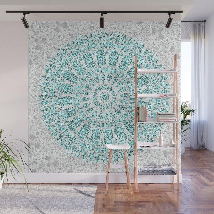 A Glittering Mandala Wall Mural