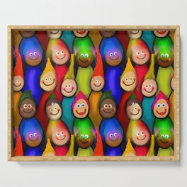 Happy Audience Serving Tray