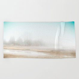 Mysterious Treeline Beach Towel