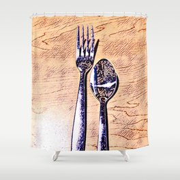 Forks and knives Shower Curtain