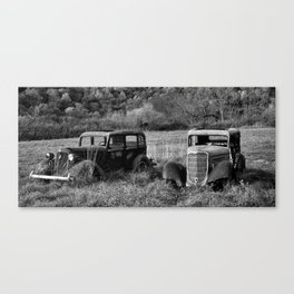 The two Old Timers Canvas Print