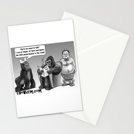 There's a human in the room Stationery Cards