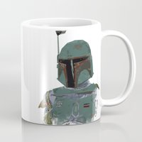 boba Mugs featuring Boba Fett by Hey!Roger