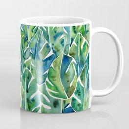 Split Leaf Philodendron – Green Coffee Mug